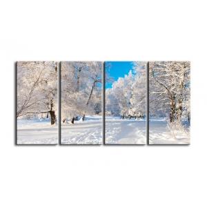 Модульная картина зима